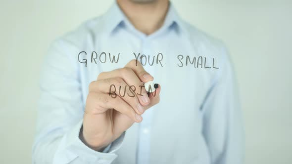 Thumbnail for Grow Your Small Business, Writing On Screen