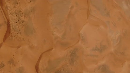 Thumbnail for Top View of the Desert From the Drone
