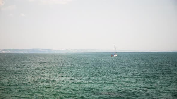 Thumbnail for Small Boat in the Sea with Tourist in It