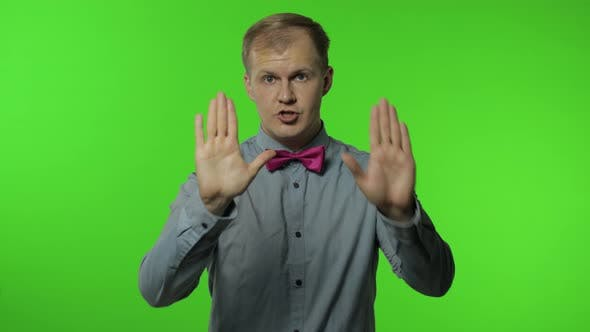 Thumbnail for Guy Showing Loser Gesture, Pointing Finger To Camera, Sarcastic Smile, Blaming for Failure, Lost Job
