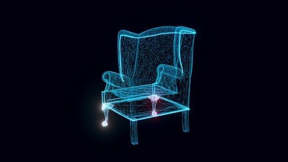 Armchair Hologram Rotating Hd