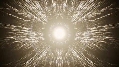 Foggy Spiritual Lightning Streak Background 4K Loop