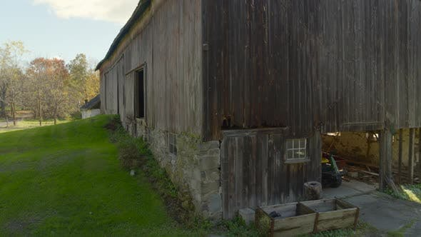 Panning Around an Old Vintage Barn