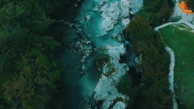 Martvili Canyon in Georgia - waterfall in canyon