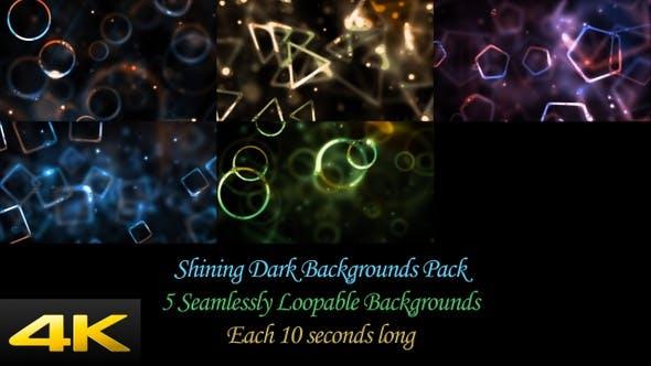 Thumbnail for Shining Dark Backgrounds Pack
