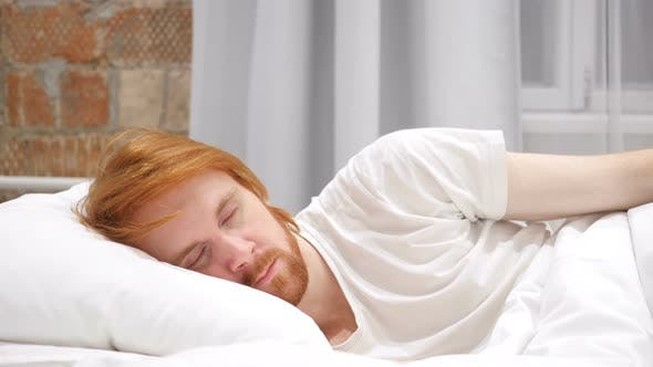 Thumbnail for Man Lying in Bed on side and Sleeping, Relaxing