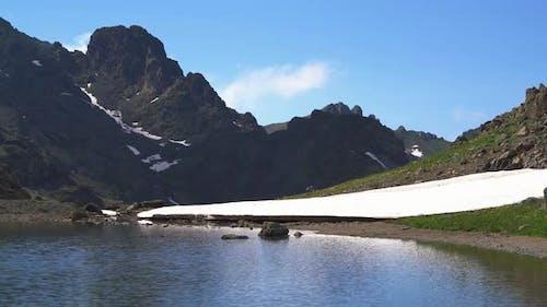 Mountain Peak Crater Lake