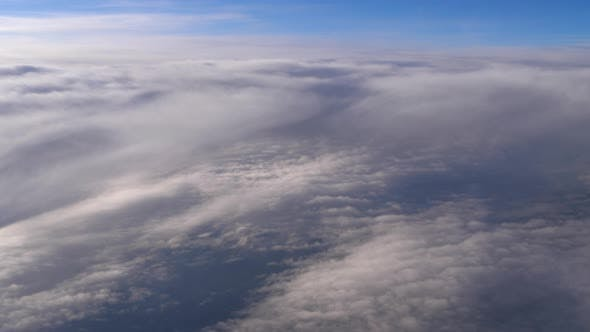 Clouds seen from an airplane