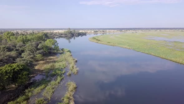 Okavango delta river in north Namibia, Africa