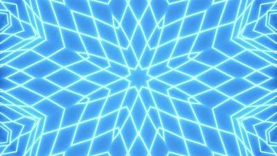 Blue Neon Grid. VJ Loop