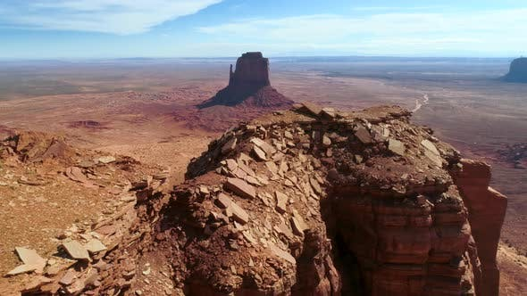 Thumbnail for Mitten Butte. The Wellknown Landmark of America Located in Monument Valley Navajo Tribal Park
