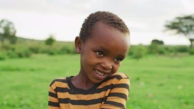 Shy Maasai boy