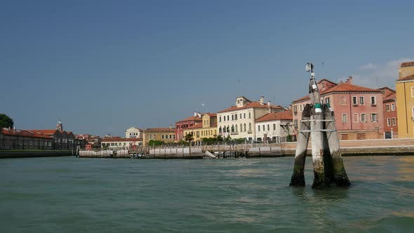 View of Venice Italy from a ferry