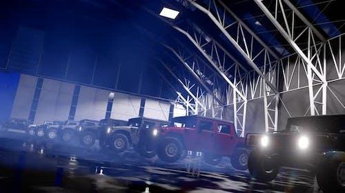 Luxus-Geländewagen in der Garage