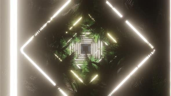 Palm Tree In Light Neon 07 4K