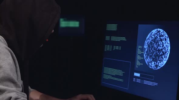 Thumbnail for Hacker Enters the Virus Data Into the Computer