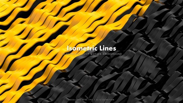 Thumbnail for Isometric Lines Motion 2