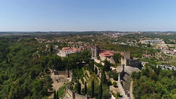Thumbnail for Flying Over Castle and Convent of Christ in Tomar, Portugal