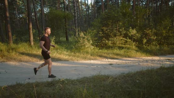 Thumbnail for Healthy Fitness Man Doing Cardio Outdoors