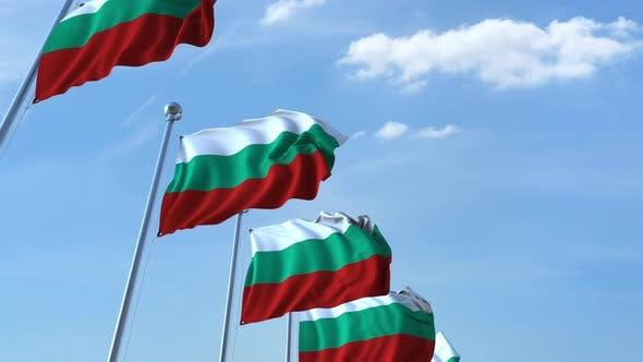 Many Waving Flags of Bulgaria