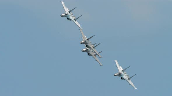 Cover Image for Russian Falcons Aerobatic Team
