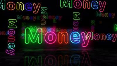 Money glowing neon 3d lights