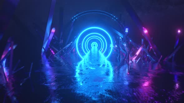 Asbractic Flight, Neon Light Ring Shape