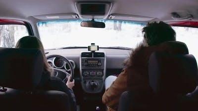 Winter Auto Travel