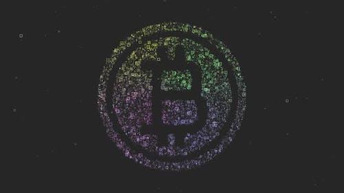 Bitcoin Logo Particles