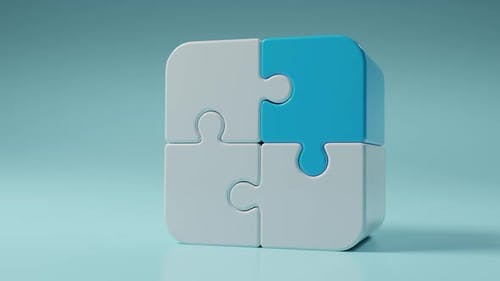 3D Jigsaw Puzzle Pieces