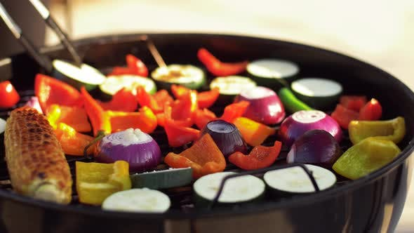 Thumbnail for Vegetables Cooking on Barbecue Grill 1