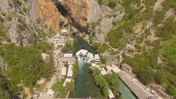 Cover Image for Aerial Shot Of Blagaj And Buna River, Bosnia And Herzegovina