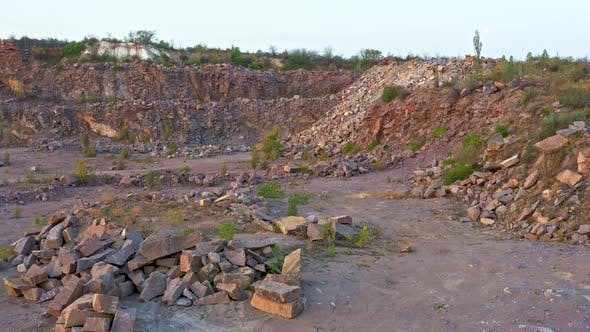 There Are Large Piles of Boulders on the Territory of the Mine