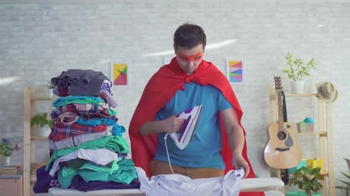 Close Up Man Householder Superhero Strokes Clothes
