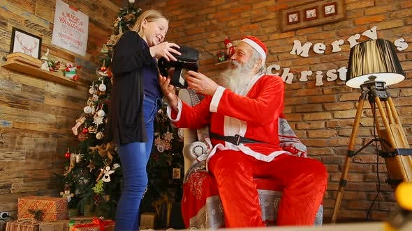 Thumbnail for Santa Gives Cool Gift To Italian Girl.