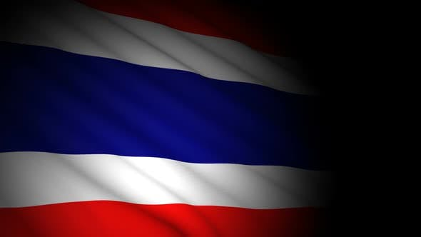 Cover Image for Thailand Flag Blowing in Wind