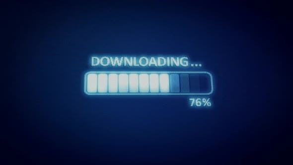 Downloading Process to Complete Blue Screen