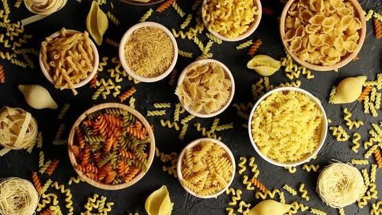 Thumbnail for Bowls of Pasta and Macaroni in Assortment