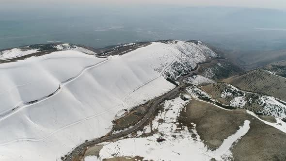 Thumbnail for Snowy Mountains And Ski Center Aerial View