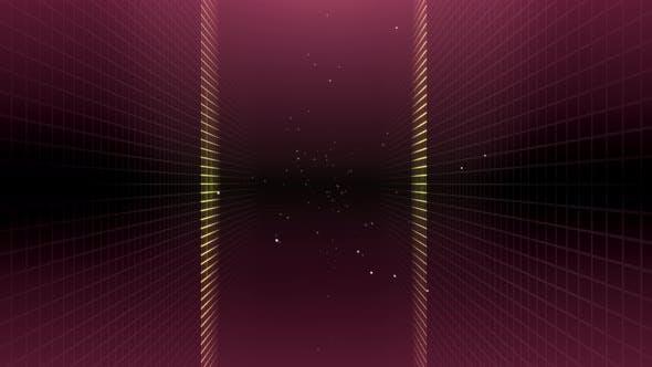 Thumbnail for Grid Tunnel Light Retro 03 4K