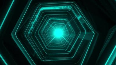Neon Light Tunnel Loop