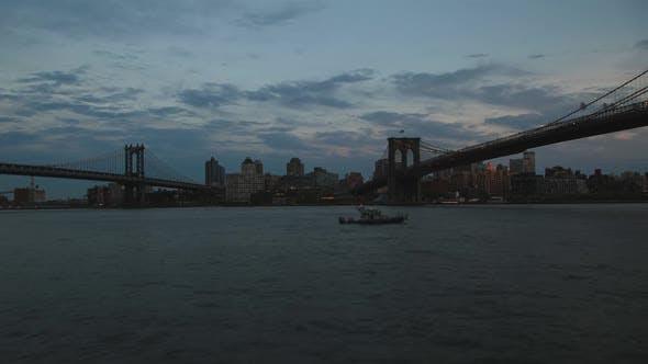 Thumbnail for New York City Brooklyn Manhattan Bridge at Sunset