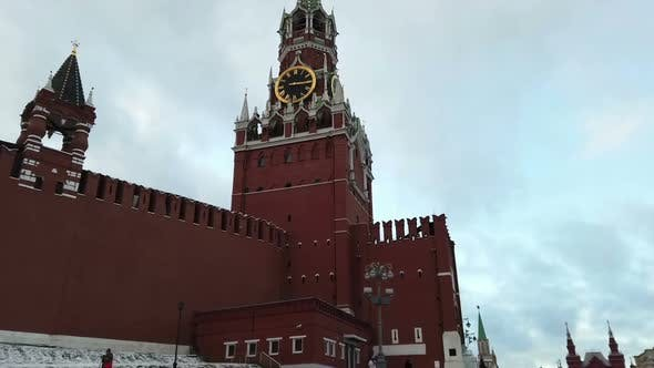 Thumbnail for Spasskaya Tower of the Moscow Kremlin on a Winter Evening
