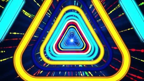 Neon Triangulars Tunnel