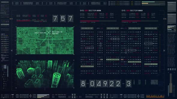 Thumbnail for Futuristic Source Code Numbers 04