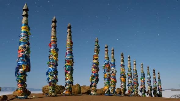 Thumbnail for Shaman Pillars on the Island of Olkhon Lake Baikal