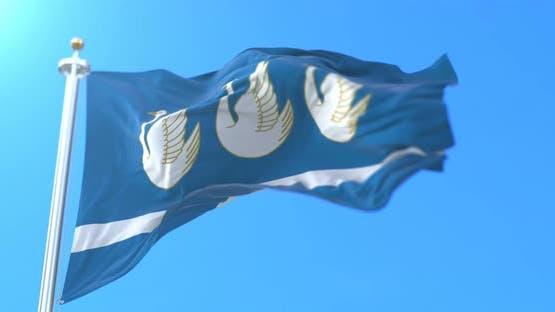 Bashkortostan Flag, Sterlitamak, Russia