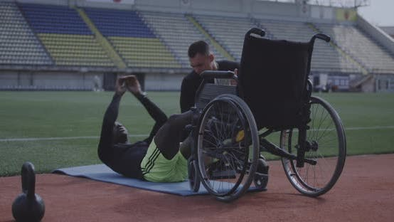 Thumbnail for Disabled Athlete Doing Sit Ups