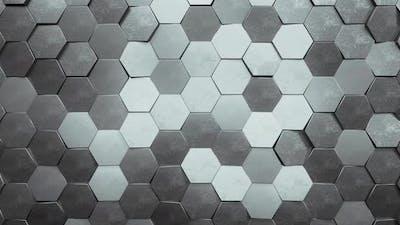 Silver Hexagon Loop