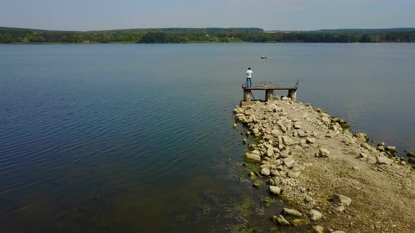 Thumbnail for Male Photographer Near the Lake